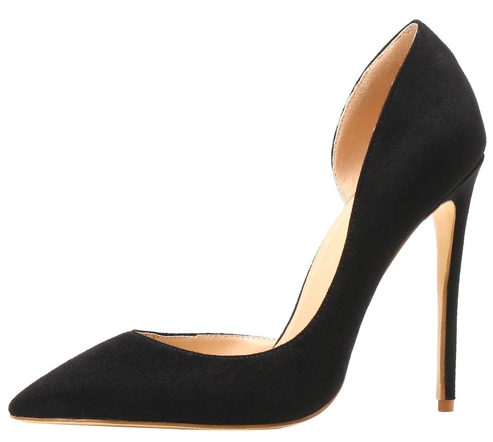 AOOAR AP37 - Zapatos de Vestir de Sintético para Mujer 46 EU|Schwarz/Wildleder