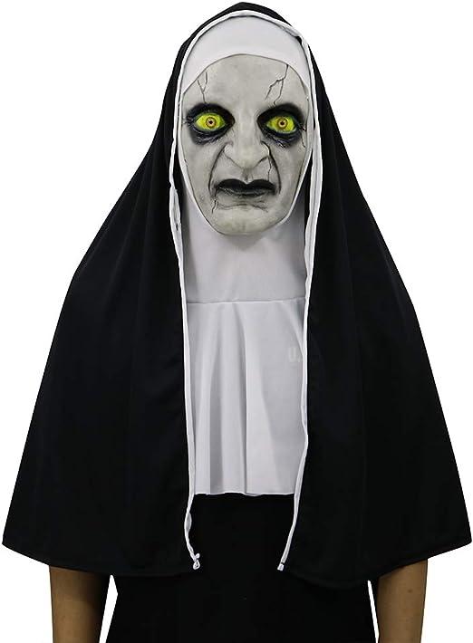 NF Halloween Disfraz Fiesta De Látex Monja Máscara, Máscara De ...