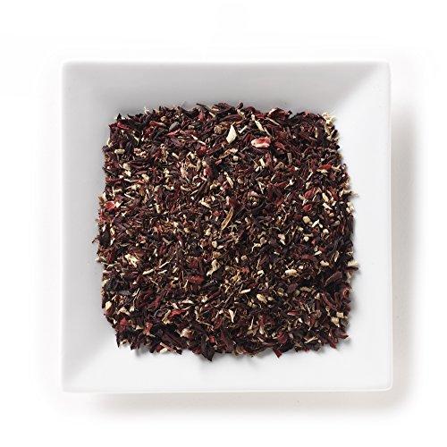 Mahamosa Hibiscus Berry Organic Tea 2 oz (with schizandra berries, rosehips, currants, blueberry, mango, orange flavors), Herbal Hibiscus Flower Tea Blend Loose Leaf (Looseleaf)