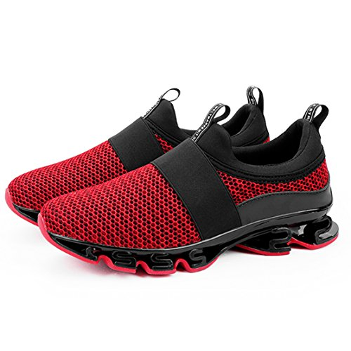 Sneakers Running de Gym Hommes Sport Chaussures 4 Mode rouge qZav5