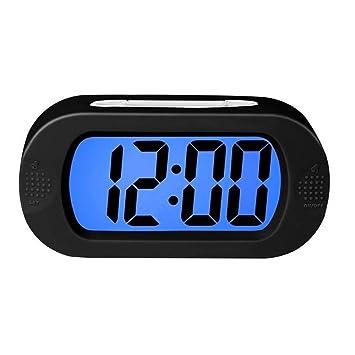 WALIZIWEI Ho Clock Reloj Despertador Digital Luz Coloreada con Ajuste De Alarma Alarma Fácil Batería Progresiva A Prueba De Golpes Relojes Despertadores ...