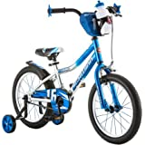 Schwinn 16-Inches Cosmo Boys' Bike, Features Included Water Bottle, Training Wheels, Coordinating Seat, Chain Guard, Front Plate and Sport Rear Fender, Blue/Gray