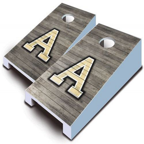 Army Black Knights Tabletop Cornhole Boards Bean Bag Tailgate Toss Game Distressed Wood Design (Tabletop Army Knights Black)