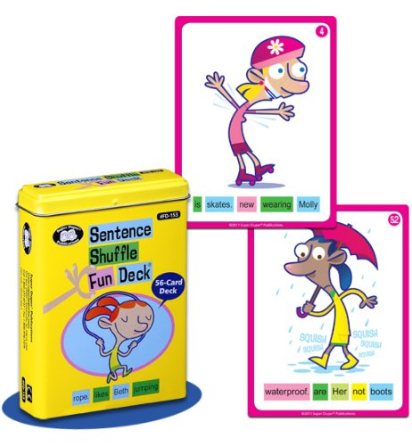 Super Duper Publications Sentence Shuffle Fun Deck Flash Cards Educational Learning Resource for Children by Super Duper Publications