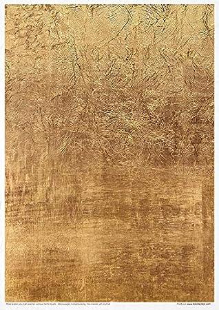 Reispapier Kreativset A4 Decoupage Rice Paper Sheet 29,7 x 21 cm Mehrfarben Water ITD Collection