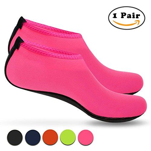 Nlife Barefoot Water Shoes Aqua Socks Sand Socks For Beach Surf Pool Swim Yoga Aerobics (Men & Women, M -XXXL)
