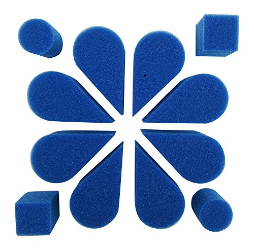 Ruby Red Paint, Inc. SPOPETBL Face Paint with Petal Sponge, 8 Pack, Blue, 2 Piece ()