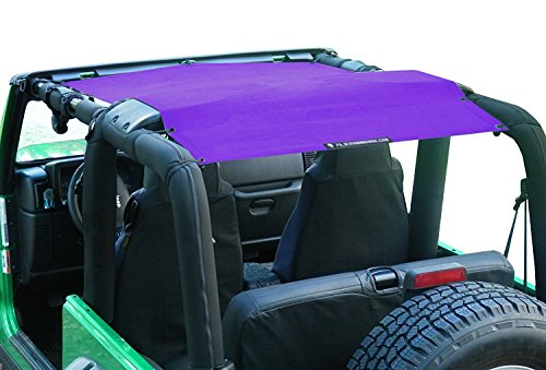 Alien Sunshade Jeep Wrangler Sunshade - Jeep TJ Sunshade (96-05) & Jeep YJ (87-95) Jeep Mesh Top (Royal Purple)