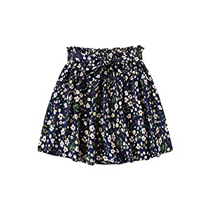 Floral Print Flared Short Skirt