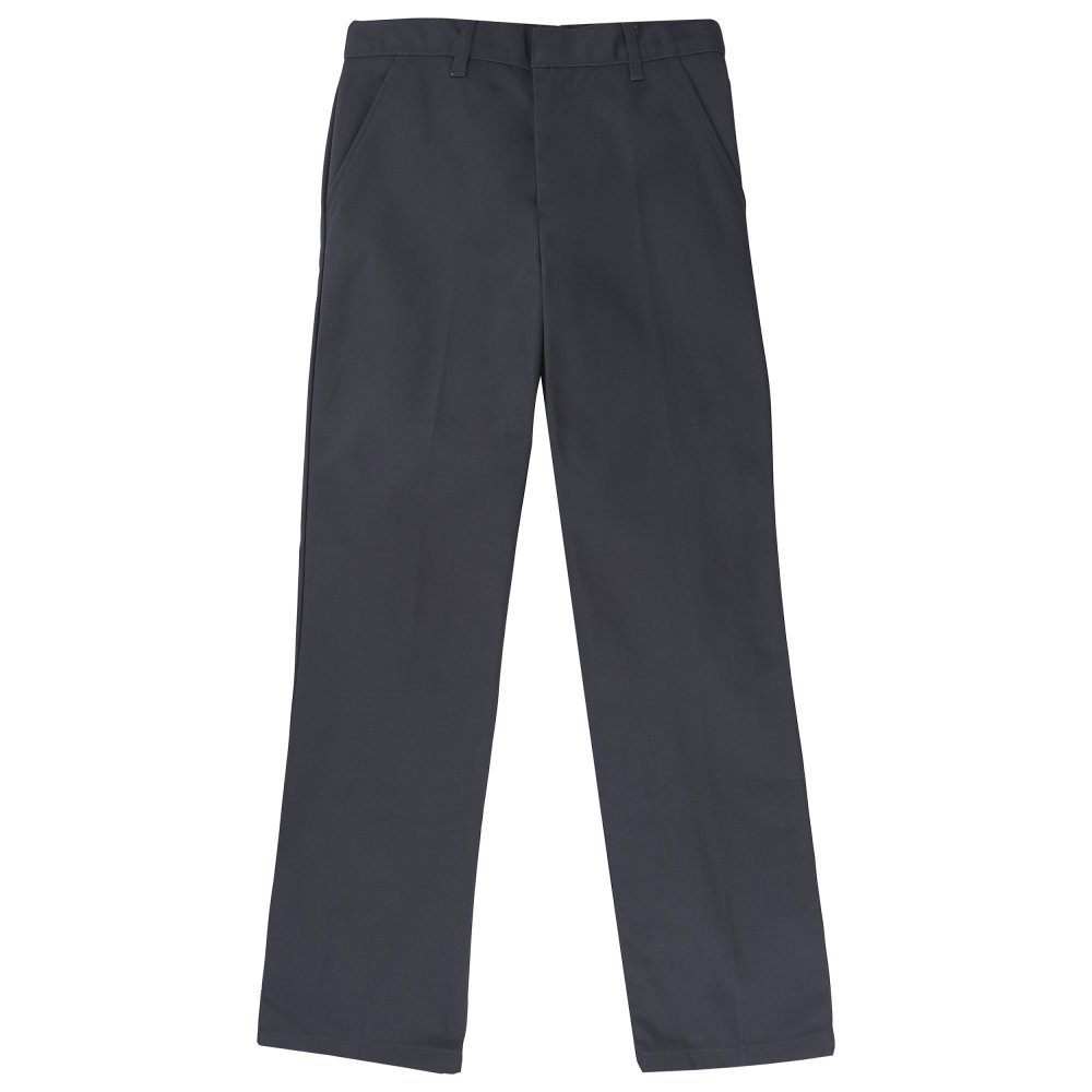 French Toast Boys' Husky Relaxed Fit Work Wear Finish Pant, Heather Gray, 10H