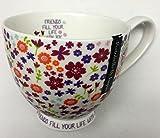 1 Portobello By Inspire Cup Tea Mug Purple Flowers Inside