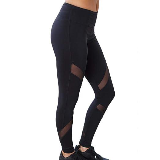 786d9e3482d811 Amazon.com: Kanzd Women Pants, Women High Waist Sexy Skinny Leggings  Patchwork Mesh Push up Yoga Pants: Clothing