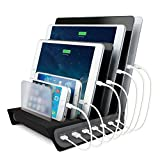 Naztech Power Hub 7 High-Speed Charging Station. Individually Charge 7 Devices Simultaneously With IntelliQ Smart Chip Technology, Powerful 70W/14A O/P For iPhone 8/8 Plus, Galaxy S9/S9+, iPad & More