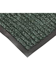 """NoTrax T39 Bristol Ridge Scraper Carpet Mat, for Wet and Dry Areas, 4' Width x 8' Length x 3/8"""" Thickness, Forest Green"""