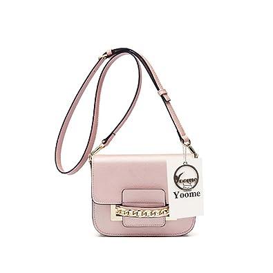 e0e4ca61f61f Yoome Flap Cross Body Messenger Shoulder Purse Bag Mini Casual Daily Bags  for Girls - Pink