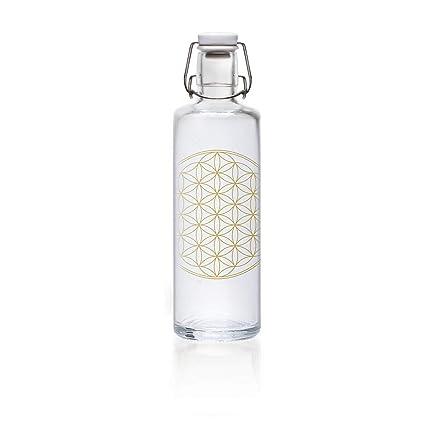 Botella de cristal Soulbottle, varios diseños, fabricada en Alemania, producto vegano, sin