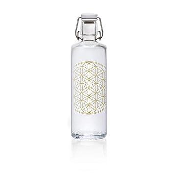 Botella de cristal Soulbottle, varios diseños, fabricada en Alemania, producto vegano, sin plástico, 1,0 l, Fill Your Life With Soul, 1,0 l: Amazon.es: ...