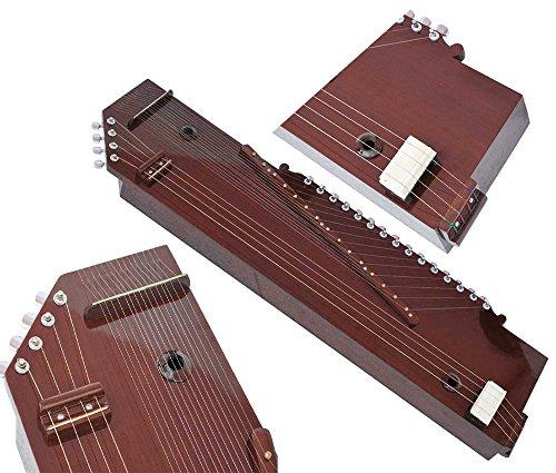 Tanpura + Swarmandal~2 IN1~Tambora, Tambura, Tanpuri (Male Type), Surmandal (15 String), Dark Colour, Comes with Gig Bag, Hand Made Indian, Few Extra Strings, Best Quality Machine Tuning Head