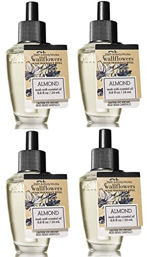 Bath and Body Works 4 Pack Almond Wallflower Fragrance Refill 0.8 ()