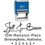 Custom Rubber Stamp Hand Writing Return Address Stamper Self Inking Personalized Invitation Label