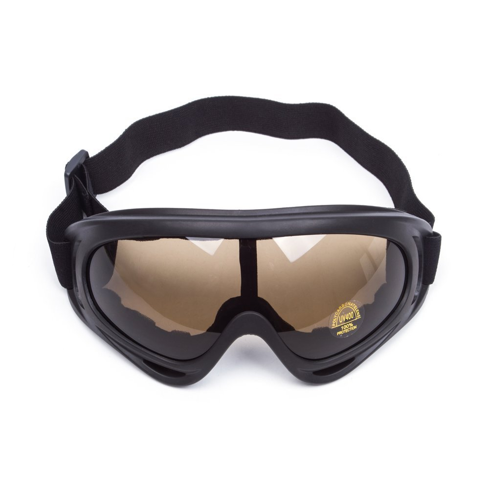 softair e sport allaria aperta White proteggono da vento e polvere per moto Occhiali di protezione UV universali e regolabili sci