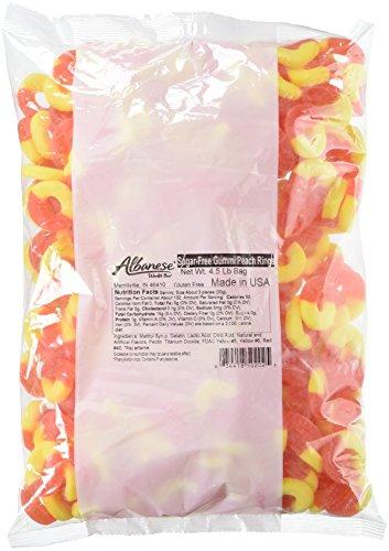 Albanese Sugar Free Peach Rings, 4.5 Pound