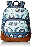 Roxy Women's Fairness Printed Backpack, Dress Blue Ax Hippie Hop Border