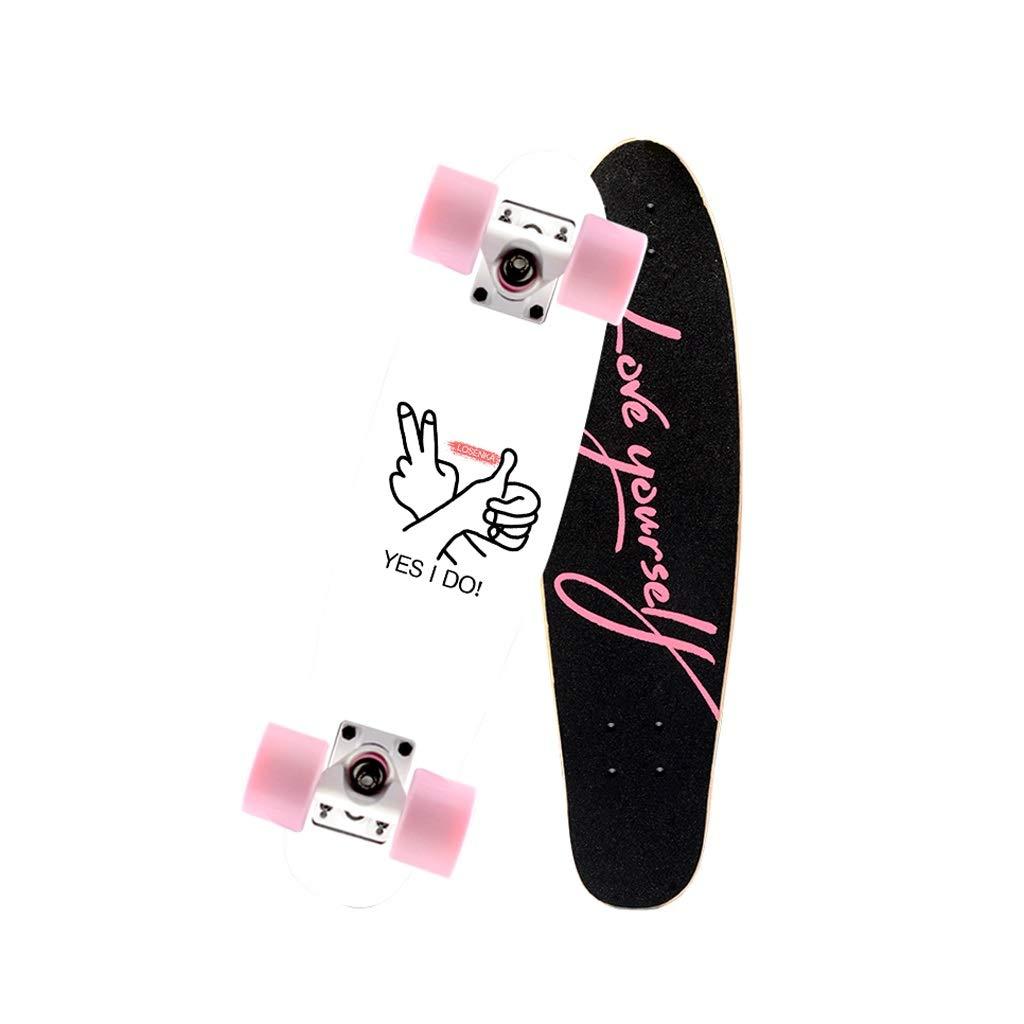 HXGL-スケートボード 小さな魚プレートブラシストリートプロスケートボードボード旅行青少年子供大人の男の子と女の子ビッグフィッシュボード - 私は行います  Small