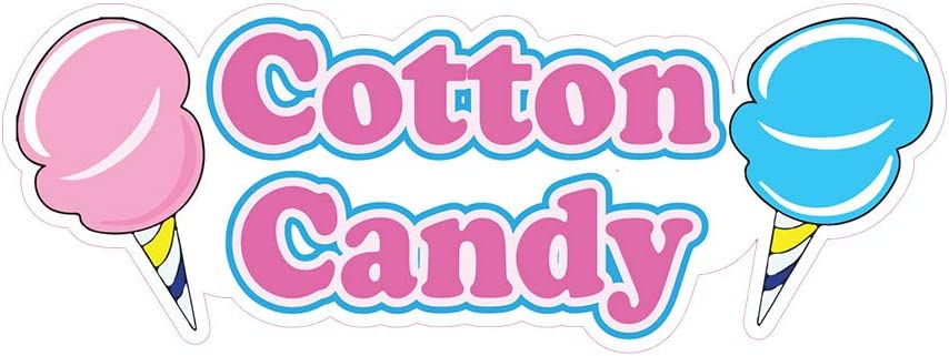 Cotton Candy in a Bag DECAL Food Truck Vinyl Sign Concession Choose Your Size
