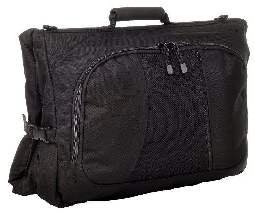 Mesh Tri Fold Garment Bag - Sandpiper of California Business Bugout Garment Bag (Black, 45x20.5x2.5-Inch)
