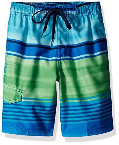 - Kanu Surf Toddler Boys' Barracuda Quick Dry Beach Swim Trunk, Avalon Royal/Green, 3T