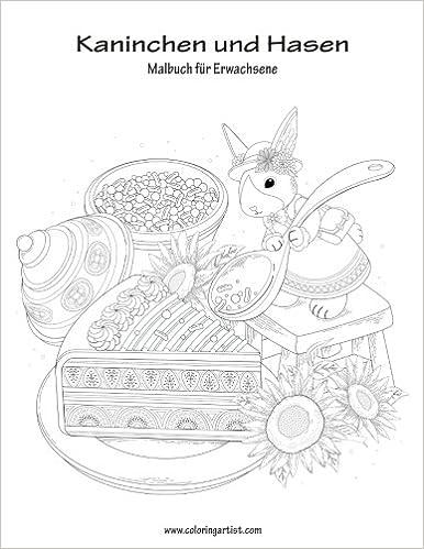 Malbuch mit Kaninchen und Hasen für Erwachsene 1: Amazon.de: Nick ...