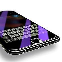 "[2-Pack] ZIYE iPhone 8 7 6S 6 Plus Anti-Blue light Tempered Glass Screen Protector Ballistics 0.3mm 9H Hardness Anti shatter Anti Scratch Fingerprint(2 Pack 5.5"")"