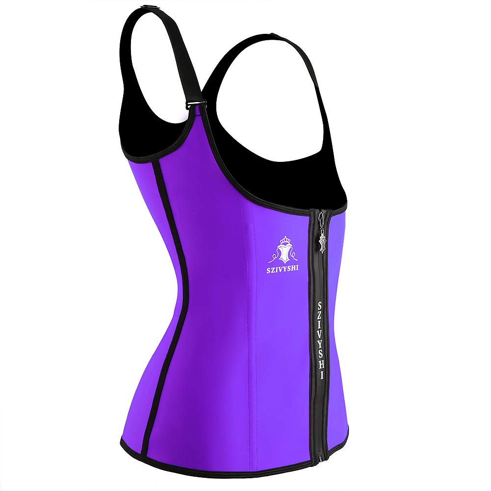 Womens Neoprene Waist Cincher Trainer Trimmer Corset Hourglass Body Shapers Sweat Vest with Adjustable Straps Weight Loss for Women