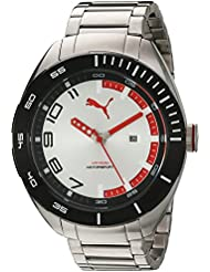PUMA Quartz Stainless Steel Watch, Color:Silver-Toned (Model: PU103951004)