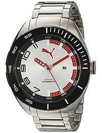 PUMA Unisex PU103951004 Analog Display Quartz Silver Watch