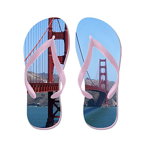 Cafepress San Francisco Golden Gate - Infradito, Divertenti Sandali Infradito, Sandali Da Spiaggia Rosa