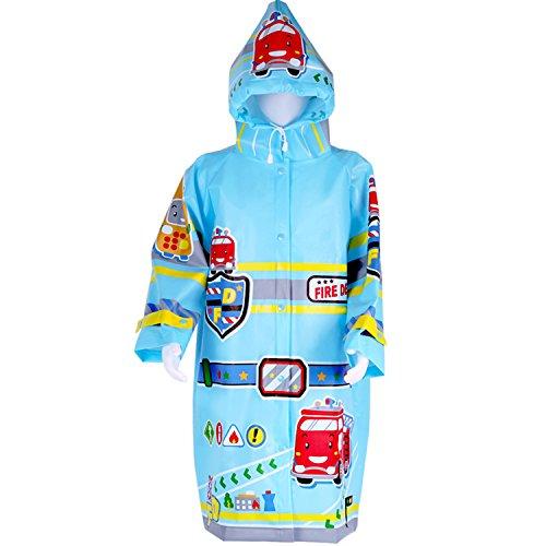 Kids Rainwear, Portable Reusable Rain Poncho, Carton Waterproof Hooded Jacket, Lightweight Raincoat Outdoor Costume for 3, 4, 5, 6 Year Olds Kids, Toddler, Boys, Girls - iPlay, - Of Outside The Year Gear