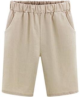 YiLianDa Damen Bermuda-Shorts im Chino Style Elegante Kurze Hose ... 5213066fb9