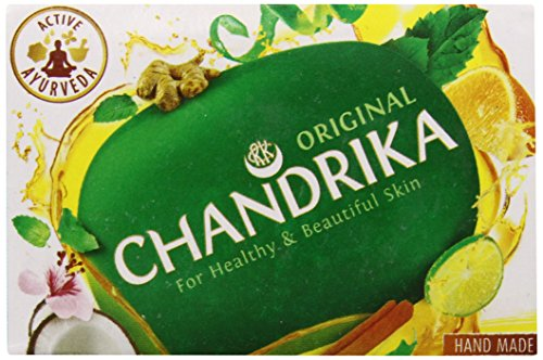 Chandrika Ayurvedic Soap 2.64-Ounce Unit  (Pack of (Chandrika Sandalwood Soap)