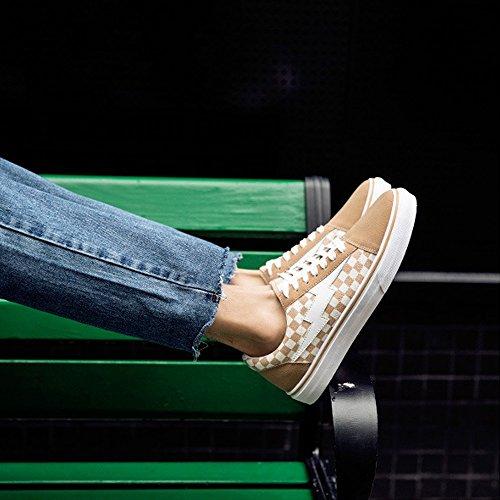 da in Mocassini Piatti Beige Gomma Sneakers Scarpe da Sportivi Stringate Uomo Scarpe Suola Cricket Casual aIw8Tx7