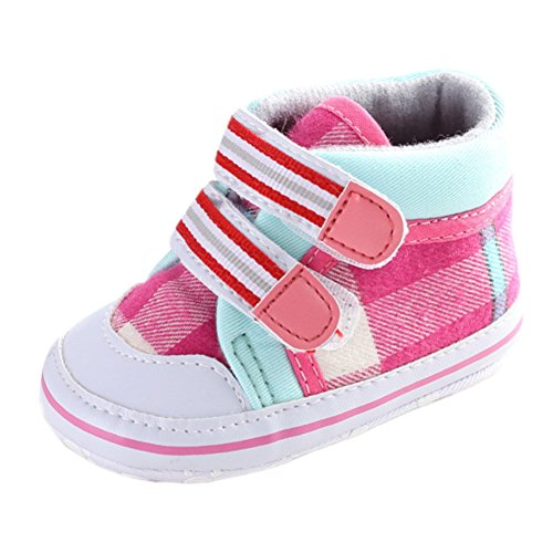 Girls Princess Plaid Velcro Sneakers