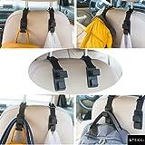 ATEKKi 4 Pack Headrest Hooks Holder for Car Seat