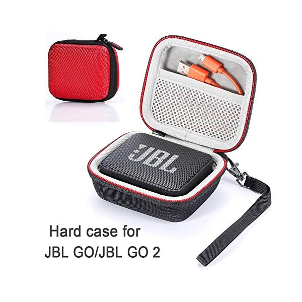 L3 Tech Etui pour JBL Go, Sacoche de Transport Rigide pour JBL GO, Haut-Parleur Bluetooth sans Fil (Boîtier Seulement, Haut-Parleur et Accessoires Non Inclus) - Rouge 1