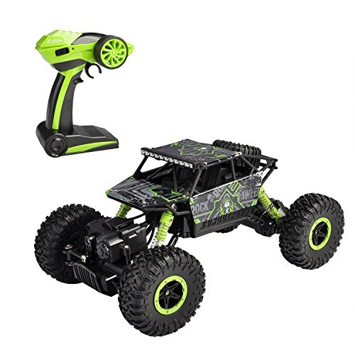 (SZJJX RC Rock Off-Road Vehicle 2.4Ghz 4WD High Speed 1:18 Racing Cars RC Cars Remote Radio Control Cars Electric Rock Crawler Electric Buggy Hobby Car Fast Race Crawler Truck-Green)