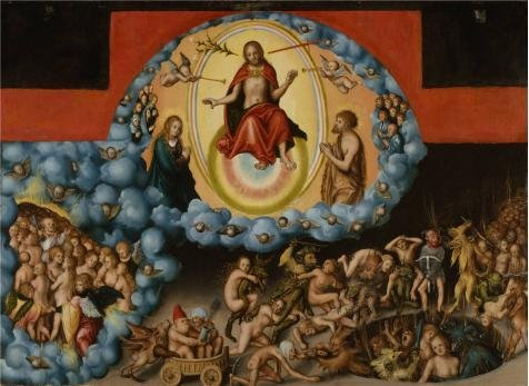 Oil Painting 'Lucas Cranach The Elder,The Last Judgment,about 1525-1530' 10 x 14 inch / 25 x 35 cm , on High Definition HD canvas prints is for Gifts And Game Room, Gym And Nursery Decoration, prints