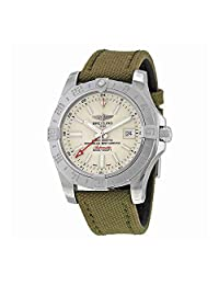 Breitling Avenger II GMT Automatic Green Fabric Mens Watch A3239011-G778GRFT