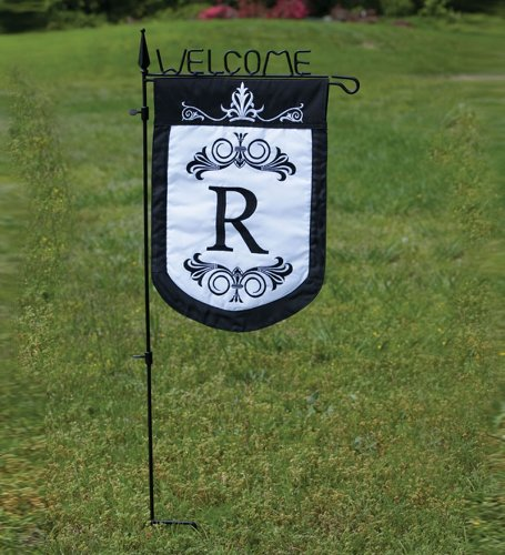 Flag Welcome Garden Stake