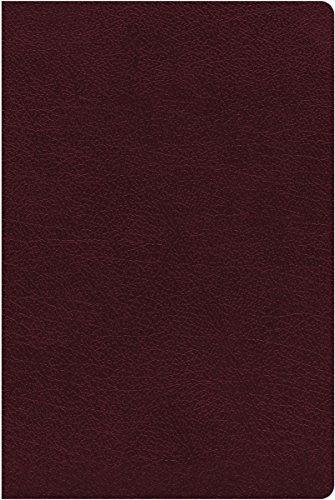NIV, Thinline Reference Bible, Large Print, Bonded Leather, Burgundy, Red Letter Edition, Indexed, Comfort Print - Bonded Leather Index