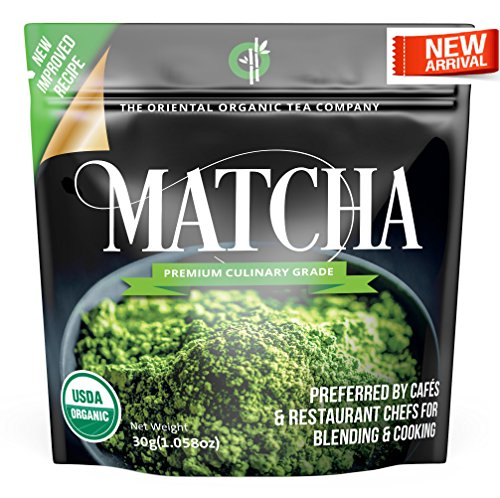 Green Ice Cream - Matcha Green Tea Powder Organic-(Premium Culinary Grade) - USDA & Vegan Certified-30g (1.06 oz) Perfect for Baking, Smoothies, Latte, Iced Tea, Ice Cream. Gluten & Sugar Free-The Oriental Organic